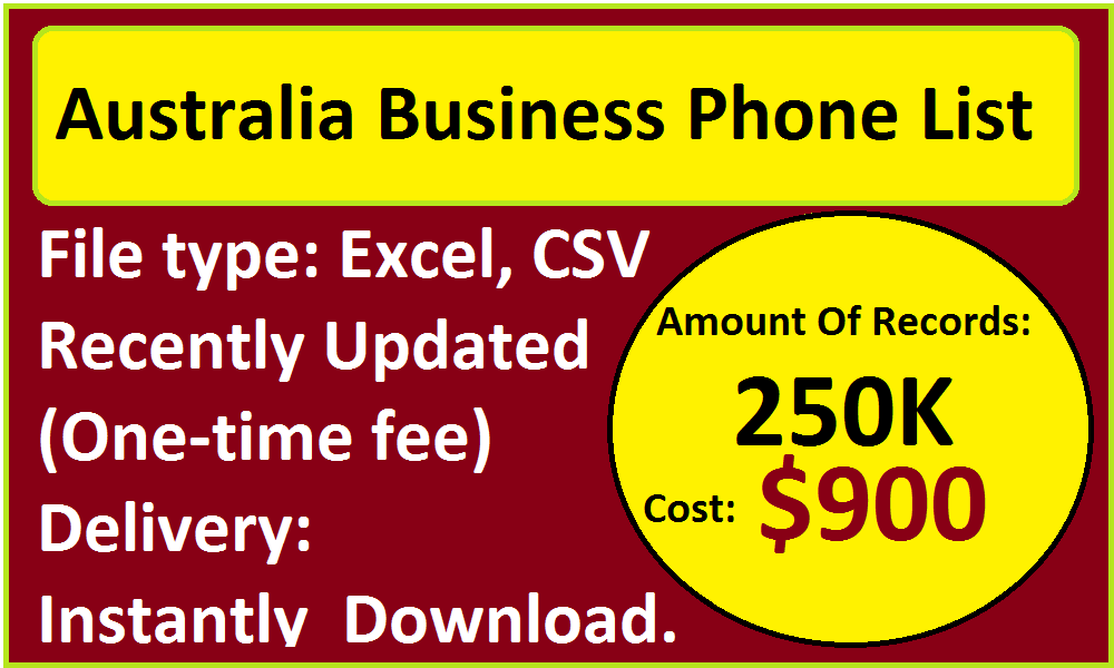Australia Business Phone List