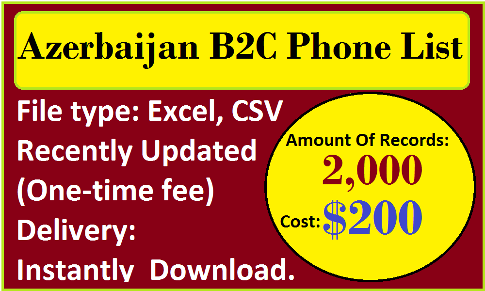 Azerbaijan B2C Phone List