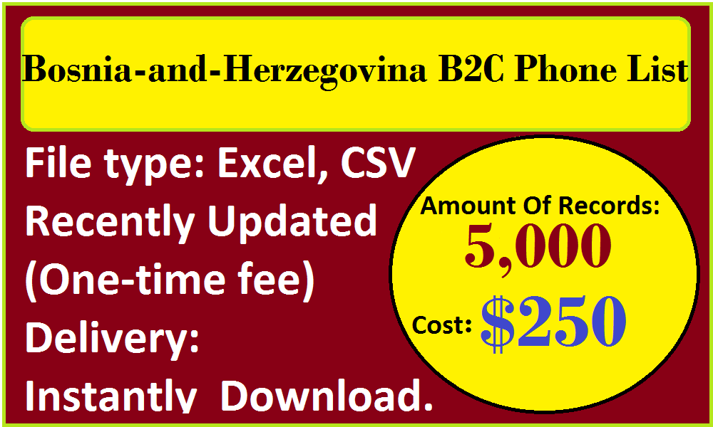 Bosnia-and-Herzegovina B2C Phone List