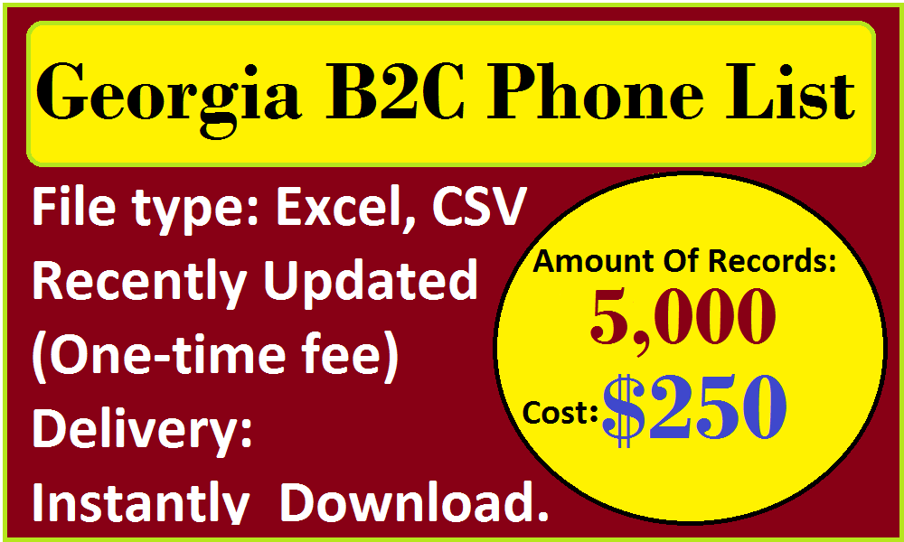 Georgia B2C Phone List