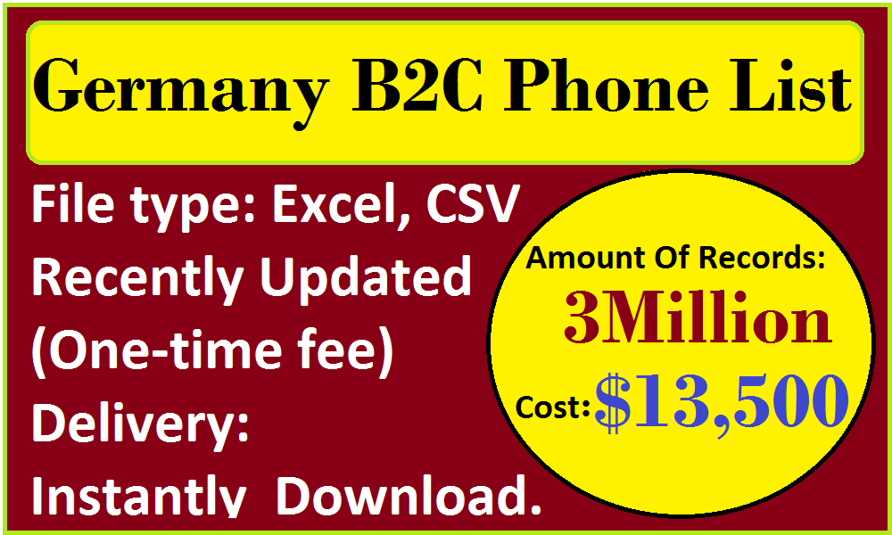 Germany B2C Phone List