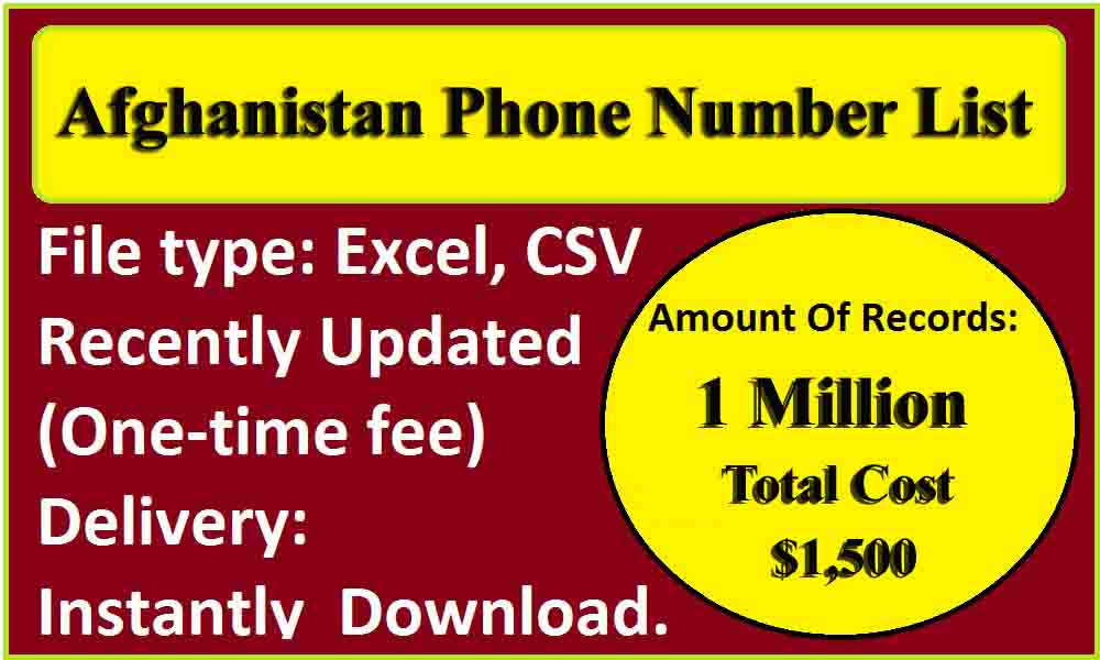 Afghanistan Phone Number List