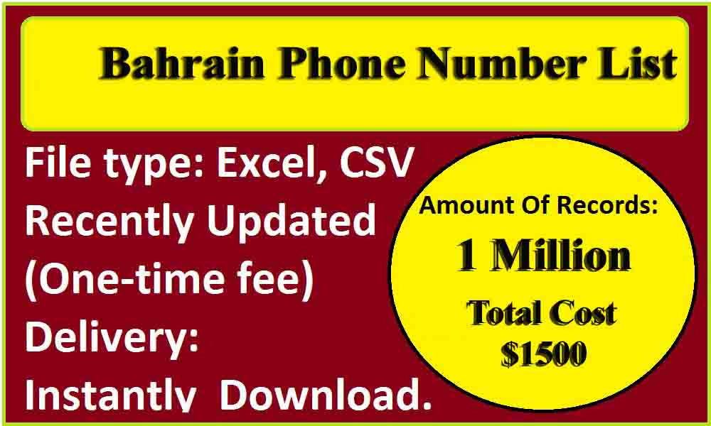 Bahrain Phone Number List