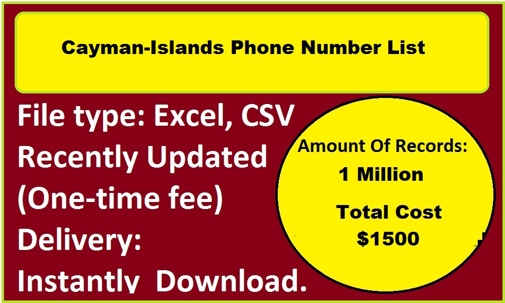 Cayman-Islands Phone Number List