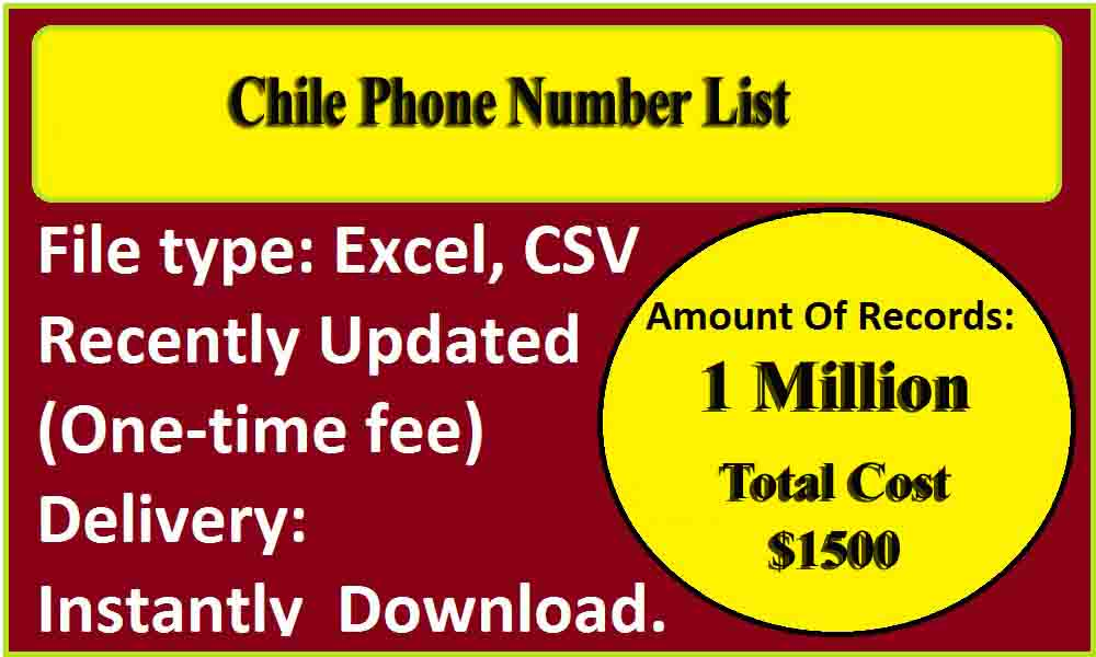 Chile Phone Number List