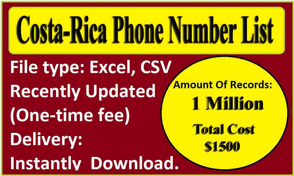Costa-Rica Phone Number List