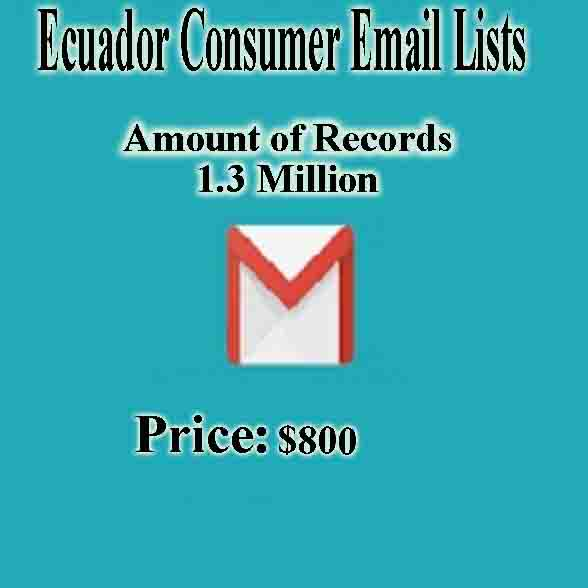 Ecuador Consumer Email Lists