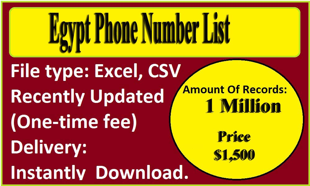 Egypt Phone Number List