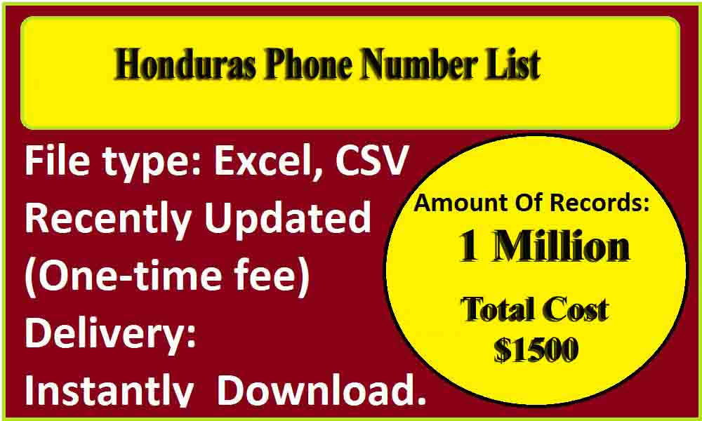 Honduras Phone Number List