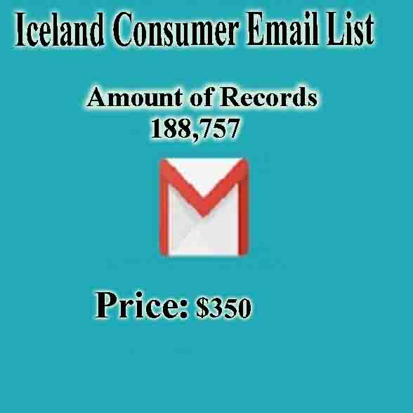 Iceland Consumer Email List