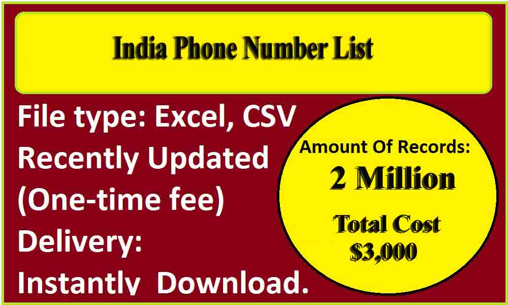 India Phone Number List