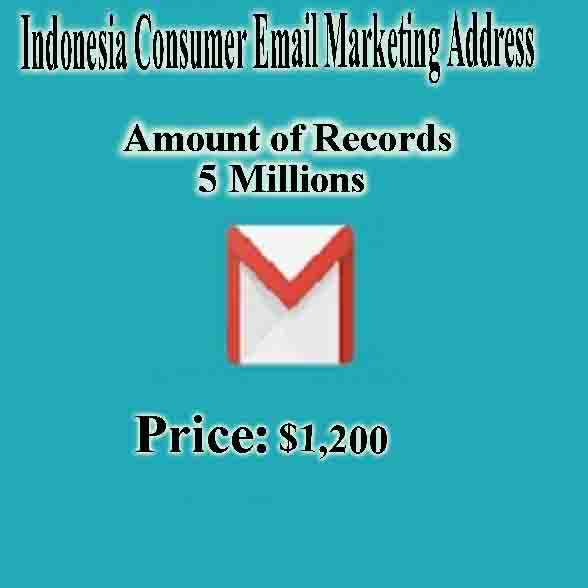 Indonesia Consumer Email Marketing Address