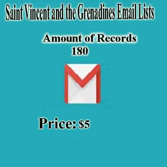 Saint Vincent and the Grenadines Email Lists
