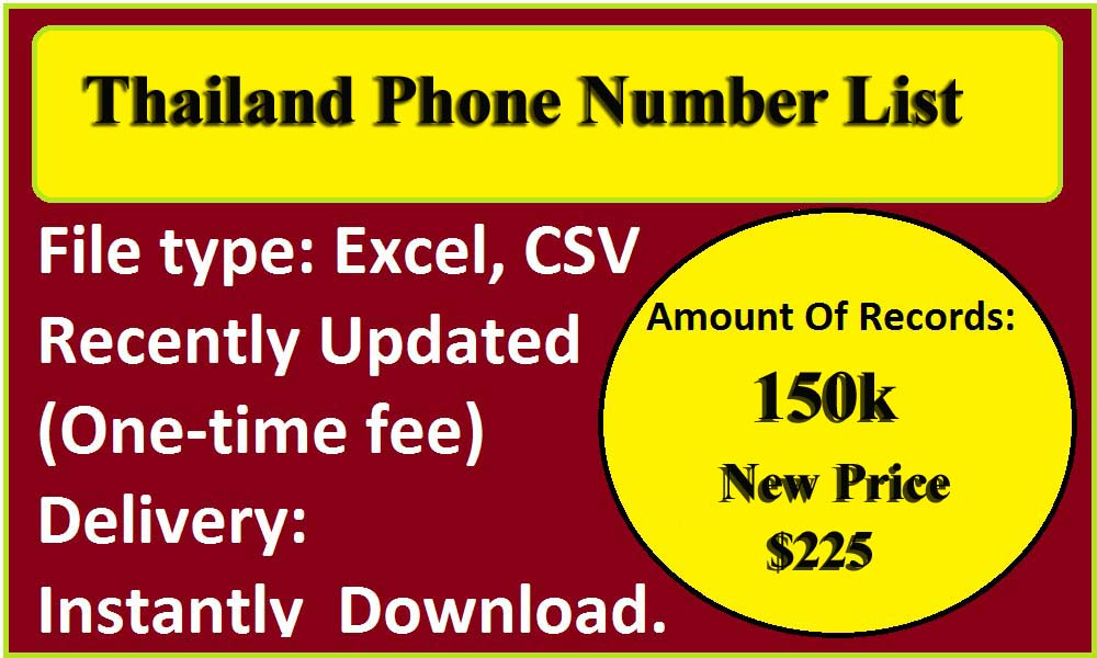 Thailand Phone Number List