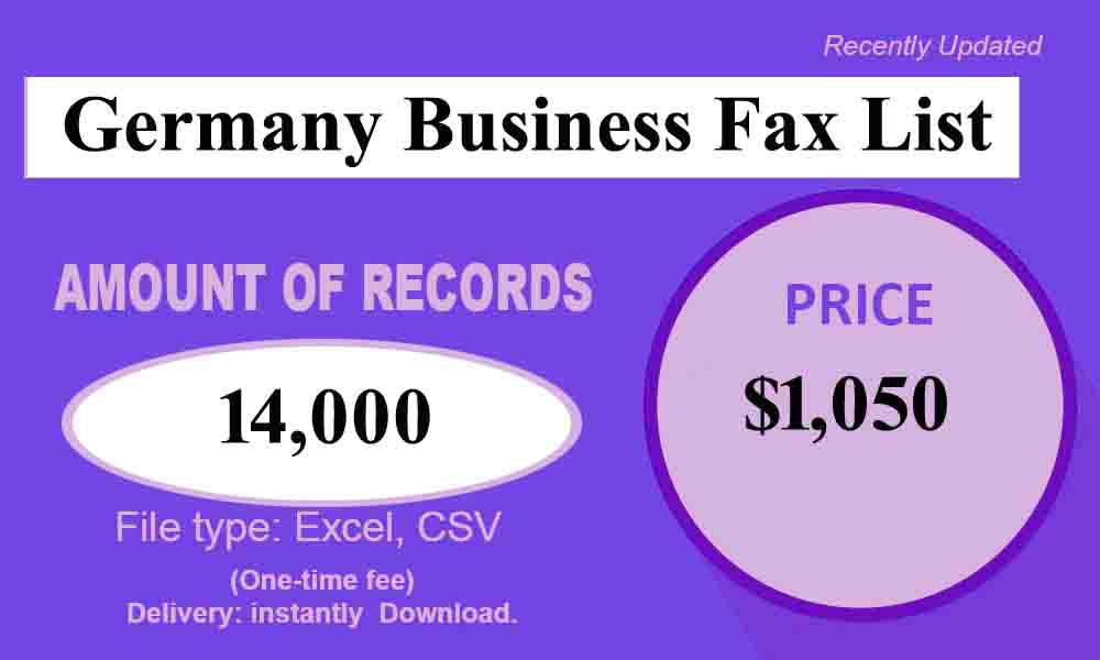 Germany Business Fax List