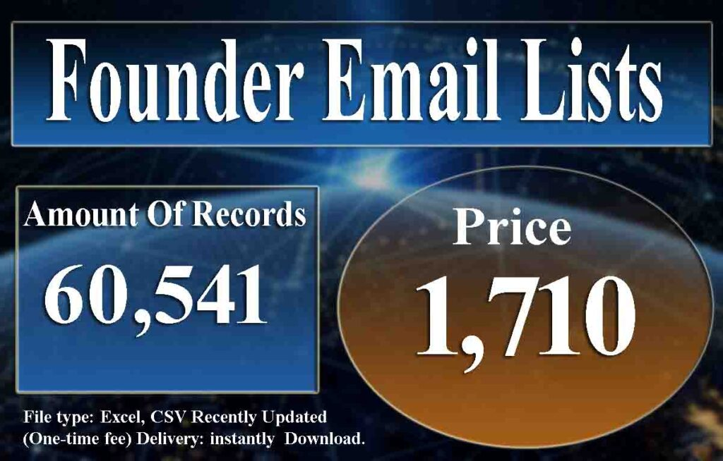 Founder Email Lists