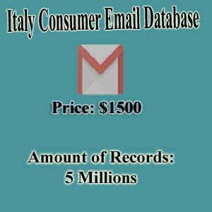 Italy Consumer Email Database