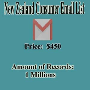 New Zealand Consumer Email List